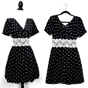 Vintage Kathryn Dianos Polka Dot Silk Dress